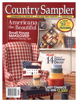 Country sampler magazine featuring custom cottage homes Home and cottage magazine